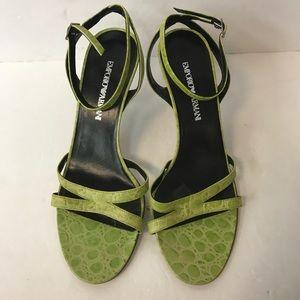 Emporio Armani sandals heels women size 38 Italy
